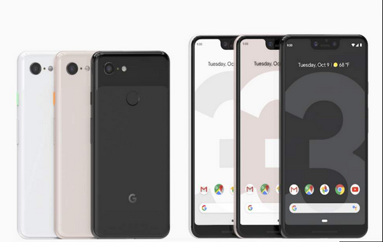 Colors of Google Pixel 3
