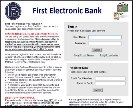 Frys Credit Card Application