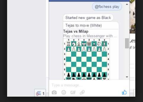 Facebook Messenger Secret Chess Game