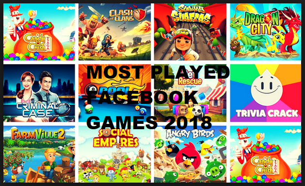 Most Played Games on Facebook 2018