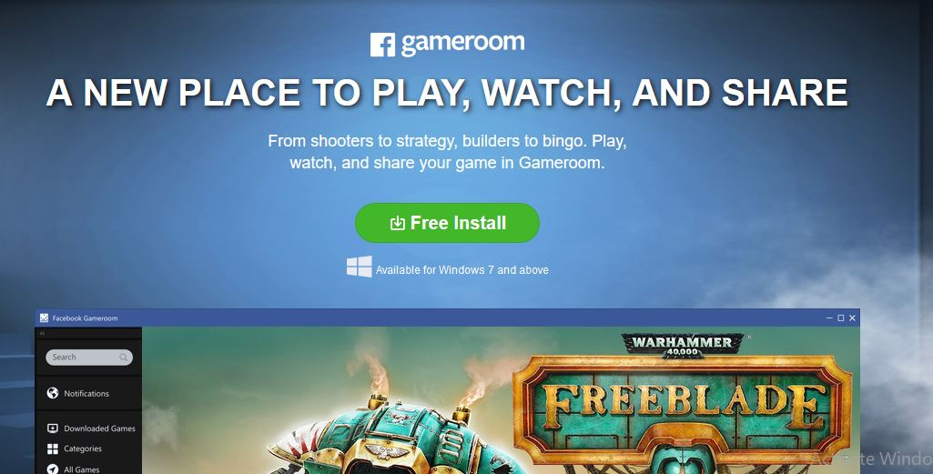 Facebook Gameroom Install