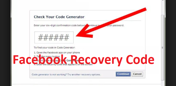 Facebook Recovery Code – Facebook Recovery Code for Friends