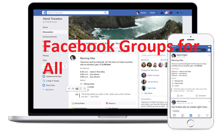 Facebook Groups for All
