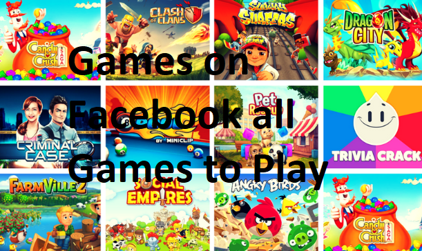 Games on Facebook all Games to Play
