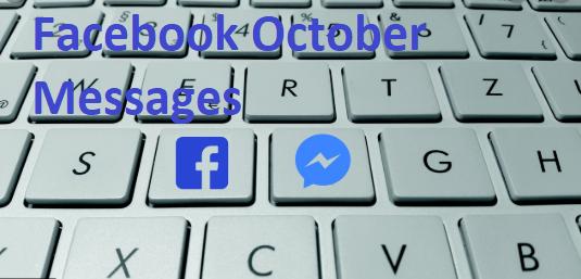 Facebook October Messages