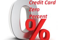 Credit Card Zero Percent