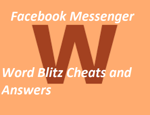 Facebook Messenger Word Blitz Cheats