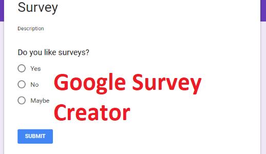 Google Survey Creator