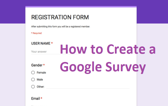 How To Google Survey