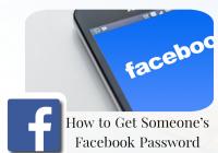 Get Someone's Facebook Password