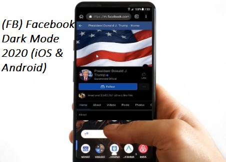 (FB)Facebook Dark Mode 2020 (iOS & Android)