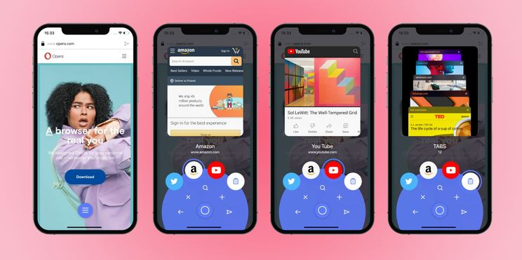 Opera Latest Feature on iOS is One-Handed Experience