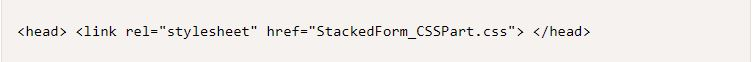How to Create a Stacked Form in CSS